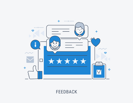 Feedback concept vector illustration. Idea of reviews and advices. Ilustrace