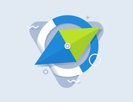 Compass  logo icon vector flat. Vector design element for you business projects.