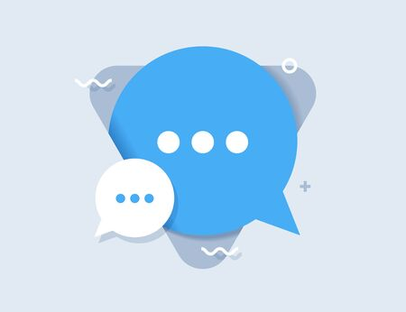 New Message, Dialog, Chat Speech Bubble Notification flat icon vector. Vector design element for you business projects.