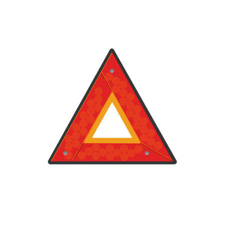 Emergency stop sign. Traffic accident sign. Stop on the road sign of help 向量圖像