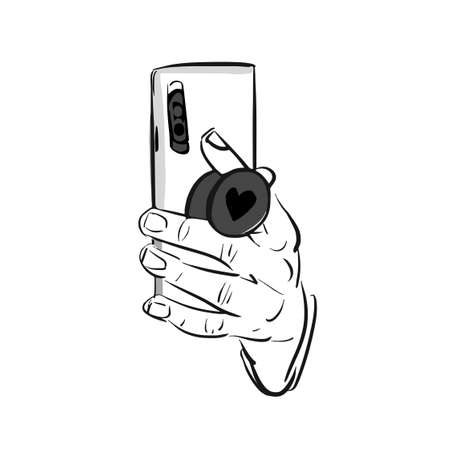 Mobile ring sketch holder for your Pop socket in the hands. Accessory holder for smartphone. Suction Cup ring on phone