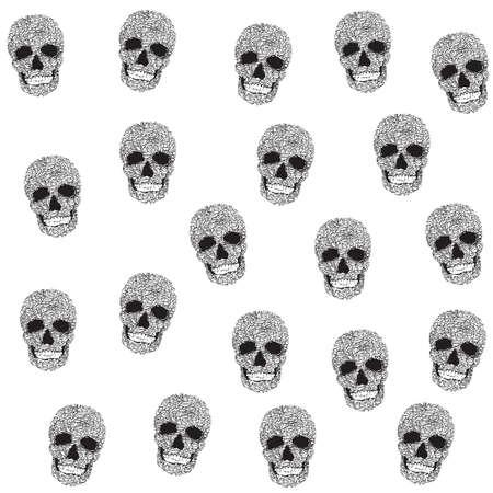 Wallpaper with skulls. Decorative seamless skull Wallpaper. Background with skulls
