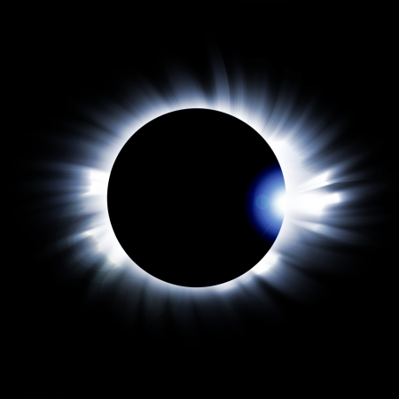 astrophysical:   eclipse of the sun on the black, used for the background Stock Photo