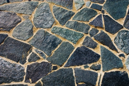 walls of the old rough black stone Stock Photo - 16269508