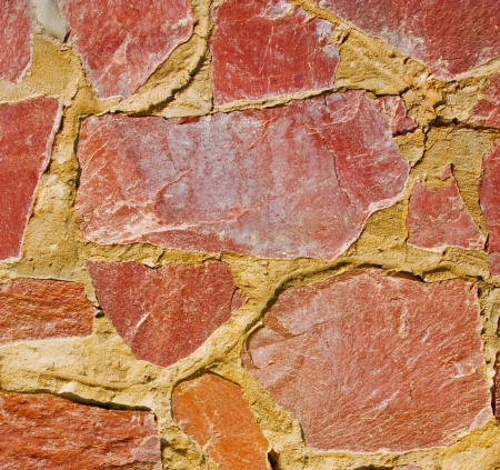 walls of the old rough red stone Stock Photo - 16269490