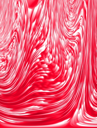 basic scheme:  abstract red background of luminescent lines