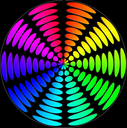 spectral color: abstract background spectral color circles Stock Photo