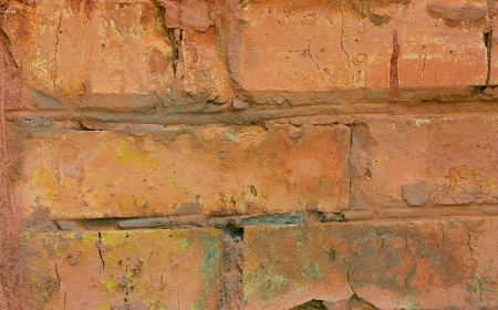 fragment of an old red brick walls, close-up Stock Photo - 16321643