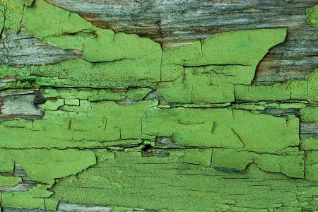 prerequisite:  texture of peeling paint on the old wooden boards Stock Photo