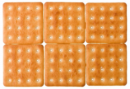 square biscuits, isolated on a white background Stock Photo - 16321563