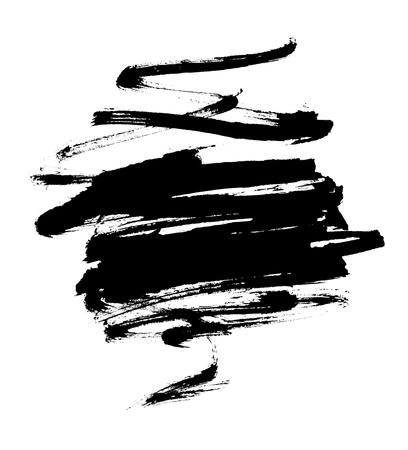 pix:  black spot grunge, drawn with a brush on a white