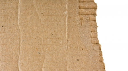 rough piece of cardboard, on a white background  Stock Photo - 16321935