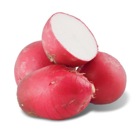 fresh red radish isolated on a white background with a clipping patch Stock Photo - 16317877