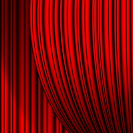 lyrical: red theater curtain with irregular relief
