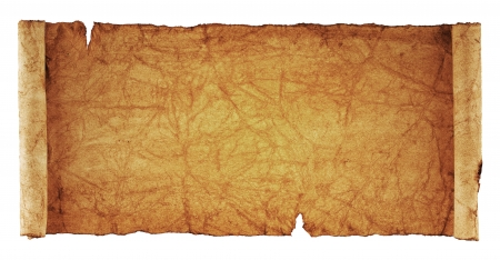 scroll of old parchment, isolated on a white background Stock Photo - 16321622
