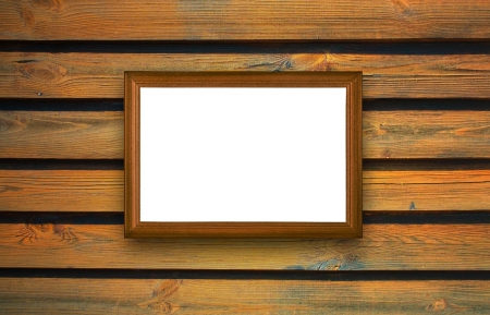 frame, the painting on a wooden background Stock Photo - 16321425