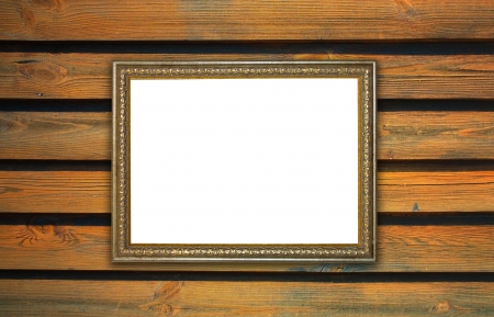 frame, the painting on a wooden background Stock Photo - 16321325
