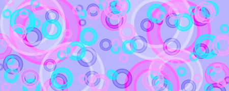 banner of multicolored circles on a green background Stock Photo - 16319925