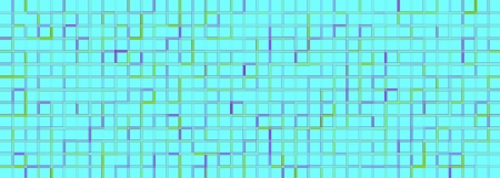Banner of the iridescent blue squares on a white photo