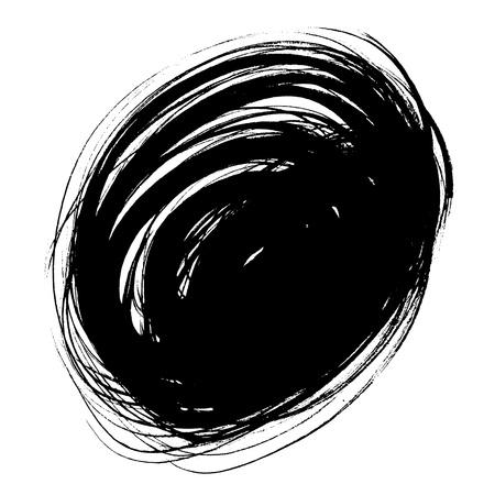 pix: black grunge spot circular, isolated on white