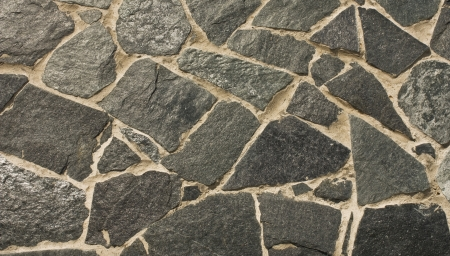 black walls of stone, closeup of a background Stock Photo - 16321880