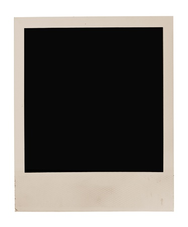 instant: Blank photo frame isolated on white background