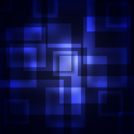 abstract blue squares on a dark background photo