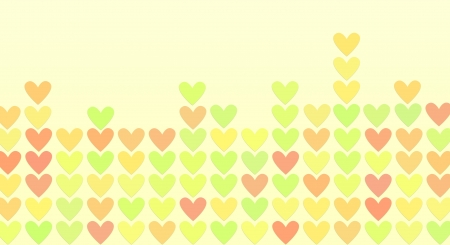 colored hearts in a mosaic, pastel abstract background Stock Photo - 16317805