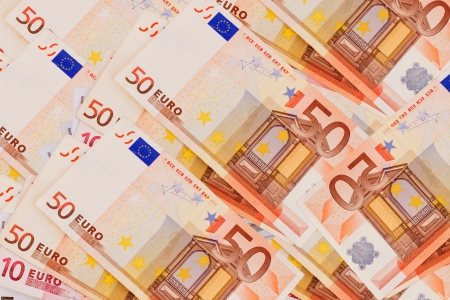 prerequisite:  5, 10, 20, 50  Euro banknotes isolated on a white background