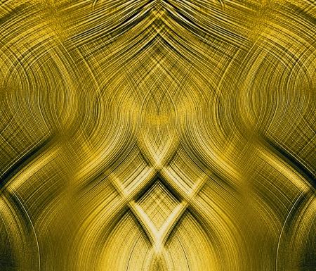 interlocking: fantastic golden interlocking threads of relief