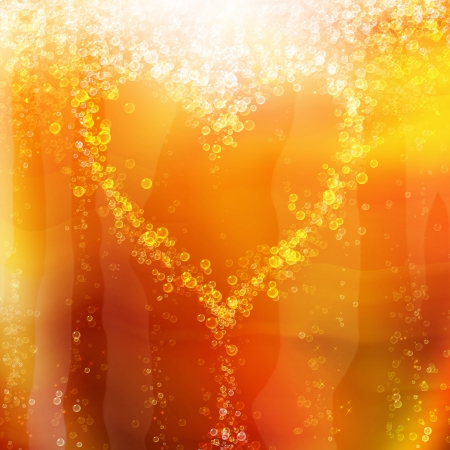 heart of the bubbles in a glass of champagne, romantic background photo