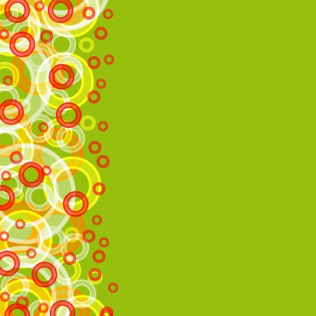 multicolored circles large and small on a green background Stock Photo - 16319786