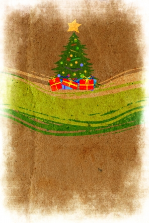 merrily: New Years abstract grunge background with spruce and winding lines
