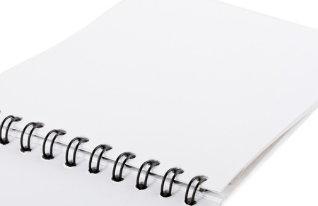 Open office binder with paper tabs and blank pages to write your own text Stock Photo - 16317879