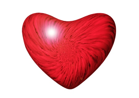 red marble heart on a white background Stock Photo - 16318261