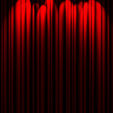 red theater curtain with various soft light sources Stock Photo - 16321059
