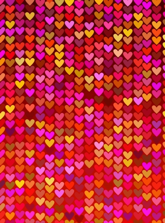 abstract background of the series of lights in the form of heart Stock Photo - 16320074