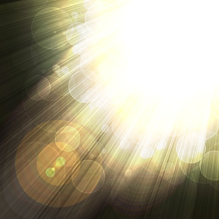 intense: shining rays of glare  on a dark background, abstract Stock Photo