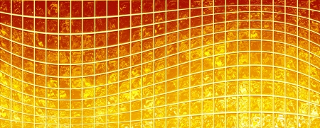 prerequisite: Banner of the iridescent  golden  squares on a white