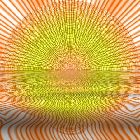 abstract sun, dawn on the water Stock Photo - 16328441