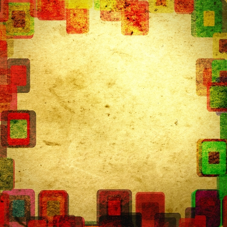frame grunge squares on the wall, abstract background photo