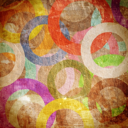 grunge circles on the wall, abstract background  photo