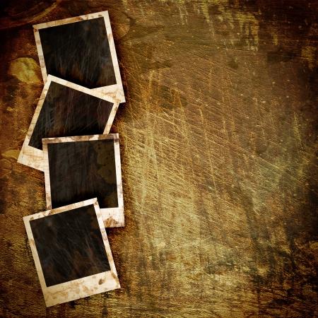 old Polaroid frame on grunge background photo
