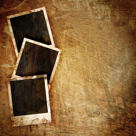 old Polaroid frame on grunge background