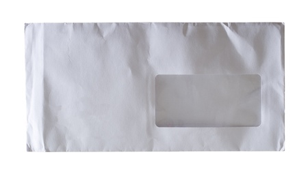 white envelope isolated on a white background