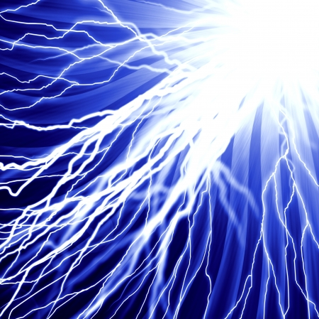 dazzle: abstract lightning and light effects on a dark background Stock Photo