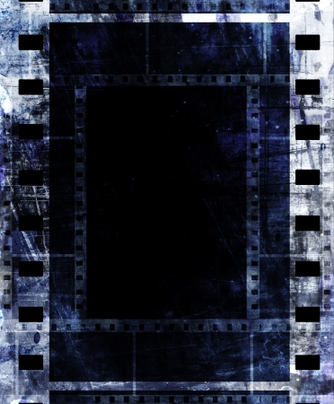 old film strip frame with some spots photo