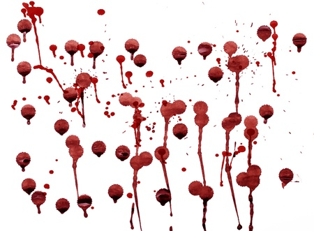 splashes of blood red splattered watercolor Stock Photo - 16339836
