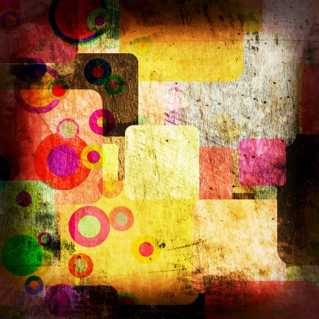 squares groups on the grunge wall, abstract background Stock Photo - 16341193