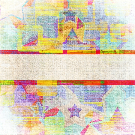 earthy: squares on the stars grunge, abstract background   Stock Photo
